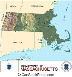 Massachusetts Counties map