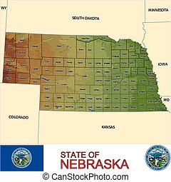 Nebraska Counties map