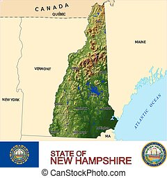 New Hampshire Counties map