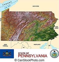 Pennsylvania Counties map