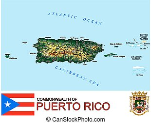 Puerto Rico Counties map