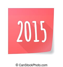 sticky note year 2015 design