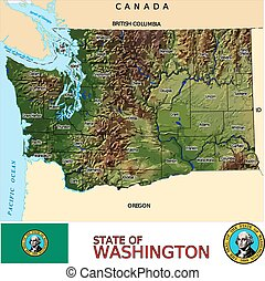 Washington Counties map