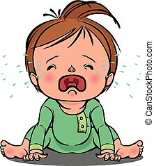 crying baby vector illustration - vector cartoon colorfull...