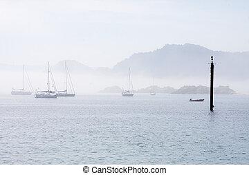 the Cies Island beach, galicia, spain