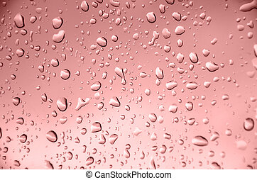 Drop water - abstract drop water with marsala background