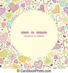 Vector doodle hearts heart silhouette pattern frame graphic...
