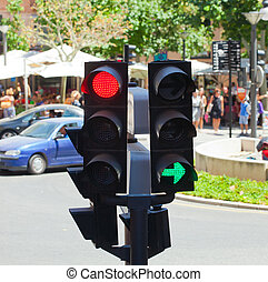 Detail of a Traffic Light on crossroads of Palma de Mallorca