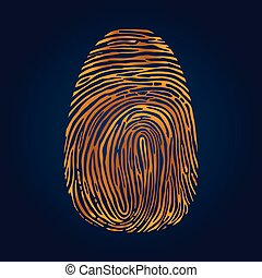 Fingerprints on blue Vector Illustrator eps 10