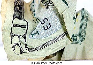 USA Currency Twenty Dollar Bill - Fragment of Twenty Dollar...