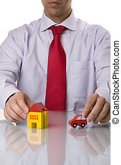 Select the best house and car - investment agent showing a...