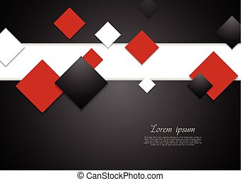 Abstract tech background with squares Vector corporate...