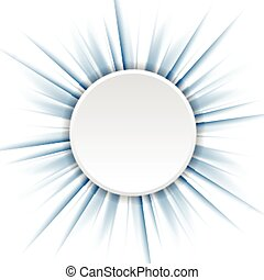 Blue beams and white circle. Vector design eps 10