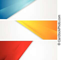 Shiny tech corporate banners Vector design