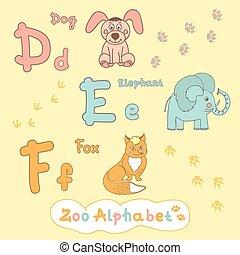 Children's alphabet with animals