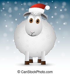 Background with Santa sheep.