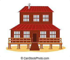Big wooden house