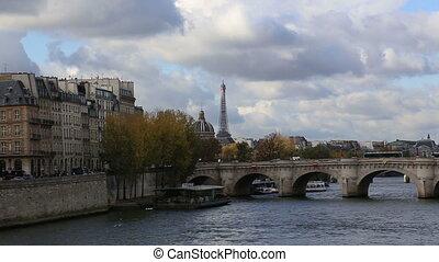 Paris France historical center river - DSLR Full HD...