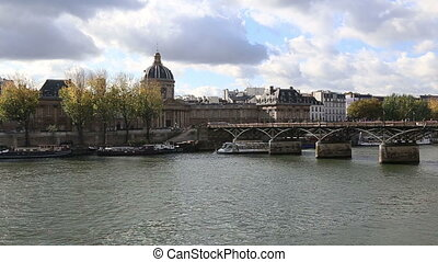 Paris France historical center river - DSLR Full HD...