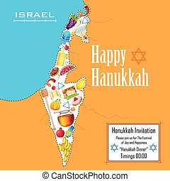 Hanukkah background - illustration of holy object forming...