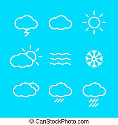 Weather Icons with blue Background vector web