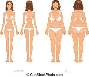 Vector illustration of different body types, set - Vector...