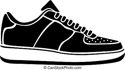 Running shoe icon SNEAKERS vector sport active icon black -...