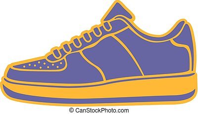 Speeding running shoe icons color variations vector logo -...