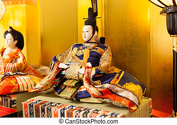 Emperor doll at the Girls' Festival, peach festival, in...