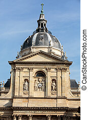 Church of Sorbonne in Paris - Sorbonne University in Paris,...