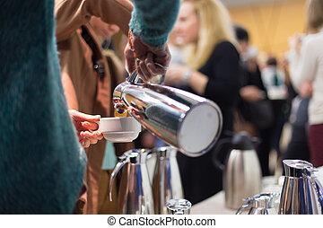 Coffee break at business meeting - Coffee break at...