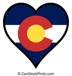 Love Colorado - Colorado State within a heart all over a...