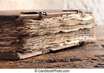 viejo, evangelio, libro,
