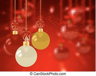 Christmas holiday bright background with ball
