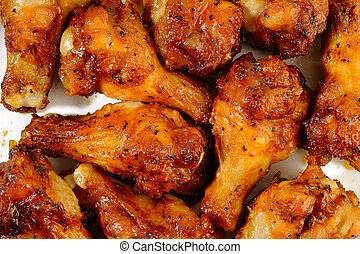Chicken wings spicy on white background