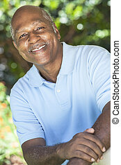 Happy Senior African American Man - A happy senior African...