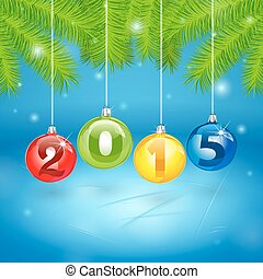 Christmas Tree Background with 2014 - Christmas Tree...