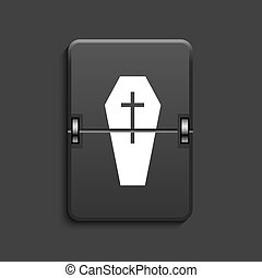 vector modern scoreboard black icon - vector modern coffin...