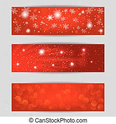 Christmas vector banners 400 x 120 size, design for Your...