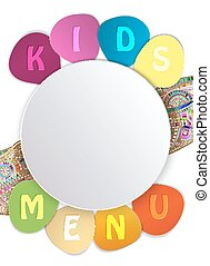 White Plate isolated on White Background for Restaurant Kids...