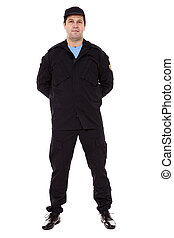 security guard full body  isolated on white  background