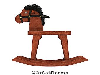 Rocking Horse - 3D digital render of a vintage rocking horse...