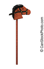 Hobby Horse - 3D digital render of a vintage hobby horse on...