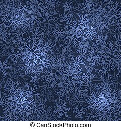 Color Winter Snowflake Abstract Background. Vector...