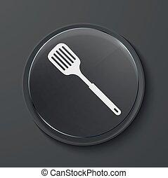 vettore, moderno, nero, vetro, cerchio, icon.,