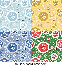 Pattern with snowflakes