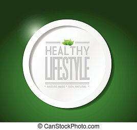 healthy lifestyle natural food illustration design over a...