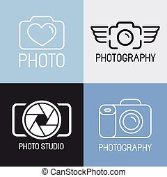 Vector set of photography logos - Vector set of photography...
