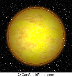 Abstract Sun planet generated texture background