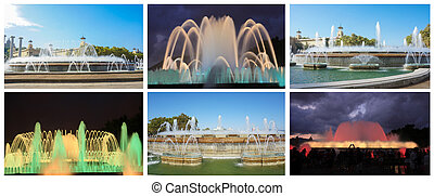 the famous magic fountain in Spain